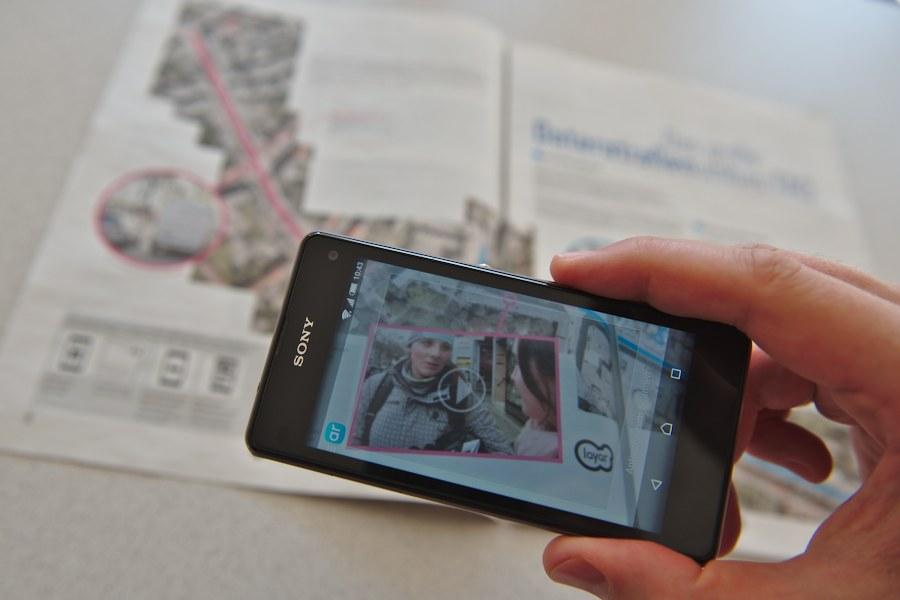 Augmented-Reality: Mit dem Smartphone Videos aus unseren Printausgaben abspielen. Foto: Tim Eckhardt