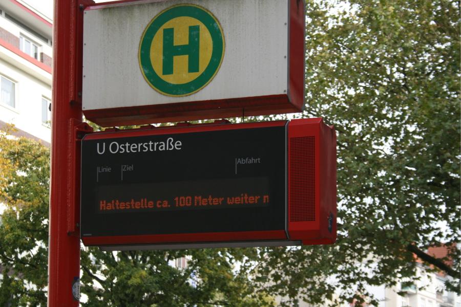 Der Bus der Linie 4 wird über Emilienstraße und Heußweg umgeleitet. Foto: Anja von Bihl