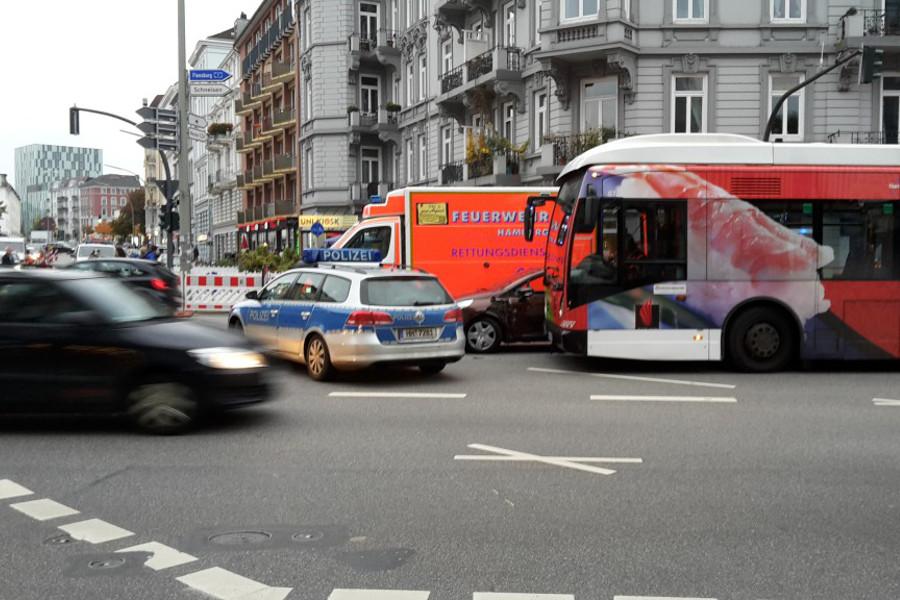Weniger Verkehrsunfälle in Eimsbüttel