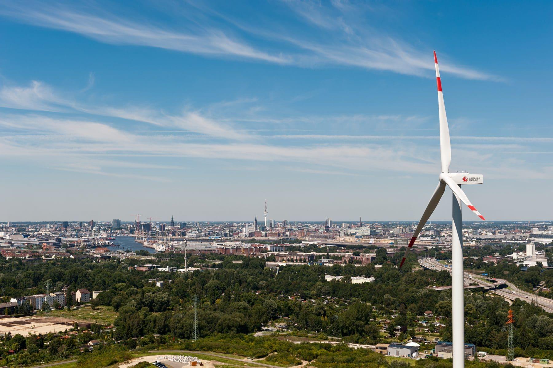Windkraftanlage Georgswerder. Foto: Hamburg Energie