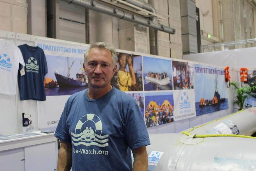 Ingo Werth ist im Mittelmeer und in Bergedorf in der Flüchtlingshilfe aktiv. Foto: Martin Kranz-Badri