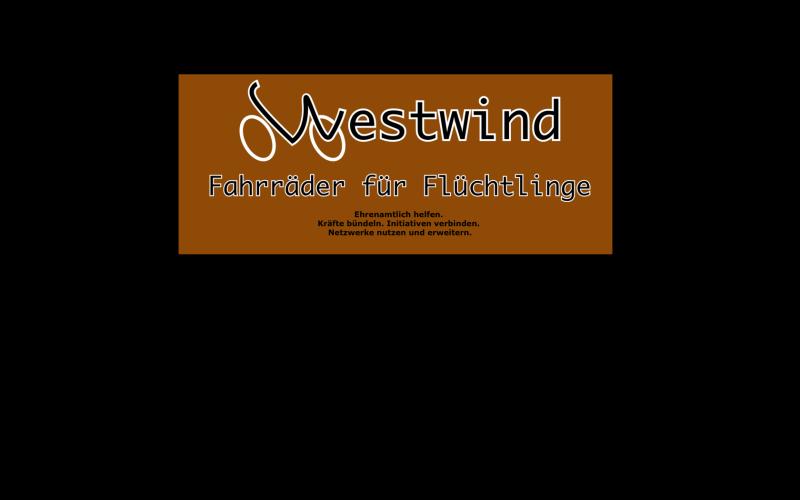 Westwind - Fahrräder für Flüchtlinge