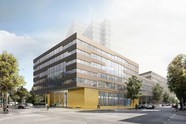 Geplanter Neubau neben dem Geomatikum. Urheber: HTP Hidde Timmermann Architekten / bloomimages