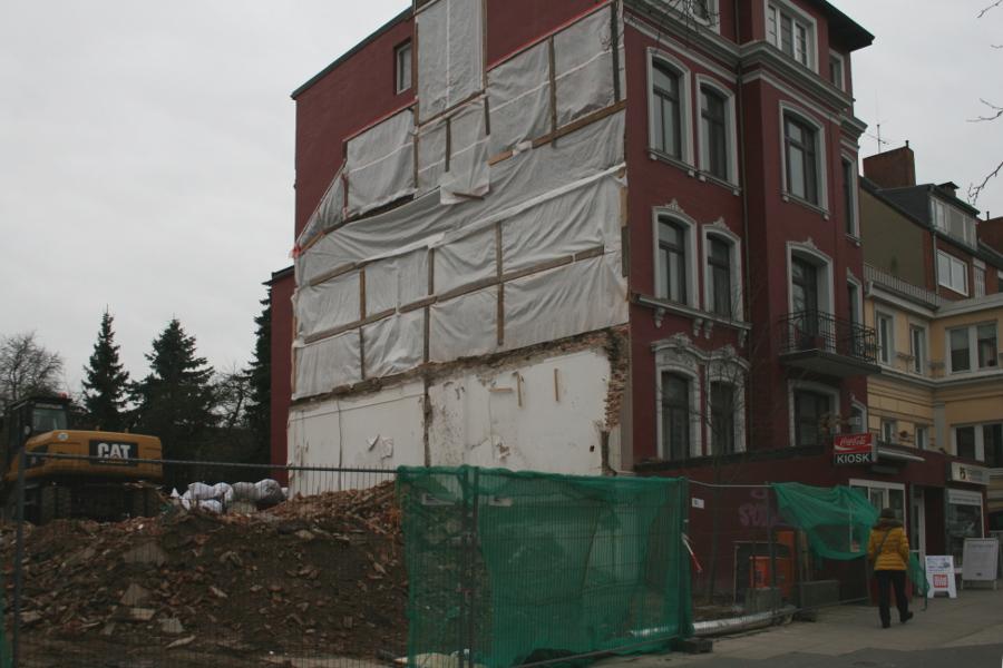 Osterstraße 35 ist weg. Foto: Anja von Bihl