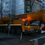400-Tonnen-Kran im Anmarsch. Foto: Anja von Bihl