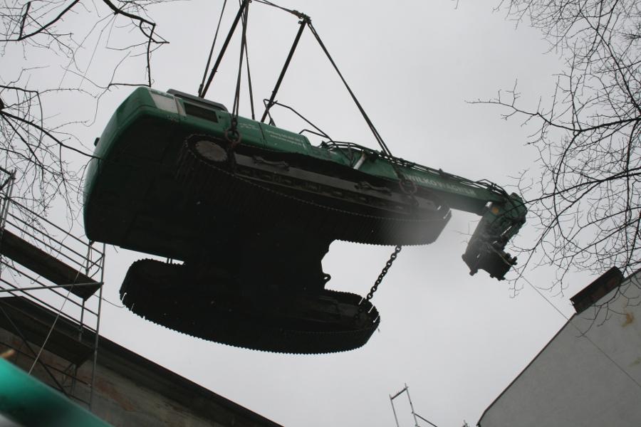 Bagger aufs Dach