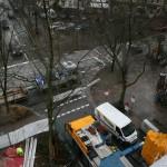 Die Kreuzung Methfesselstraße/Langenfelder Damm vom Bunkerdach. Foto Anja von Bihl