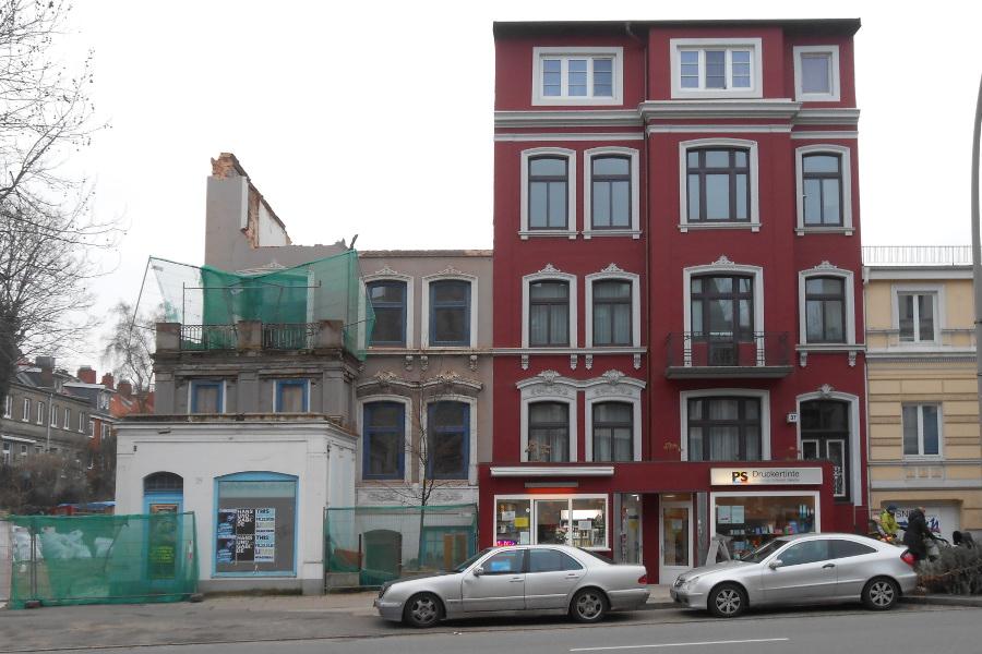 Ältestes Haus er Osterstraße: Die oberste Etage ist weg. Foto: Anja von Bihl