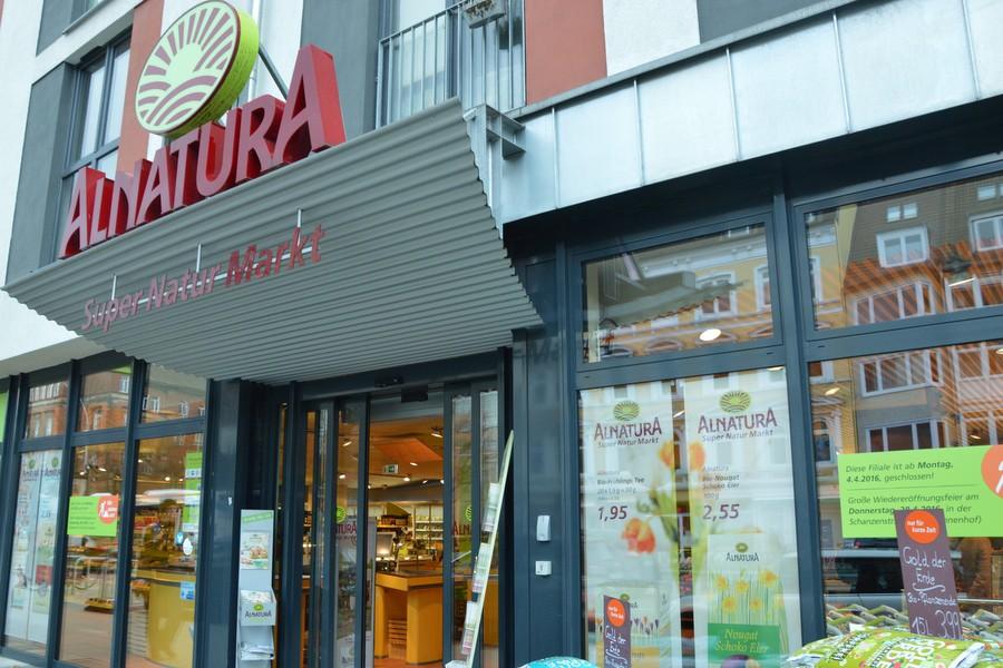 Der Supermarkt von Alnatura zieht aus der Grindelallee in die Schanze. Foto: Henrike Hapke