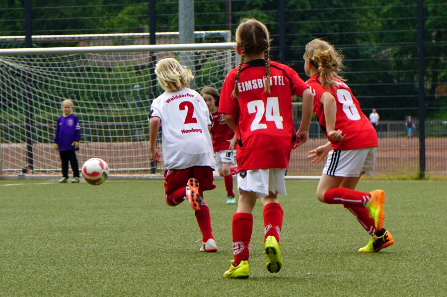 Der ETV feiert den Tag des Mädchenfußballs. Foto: Matthias Fuest