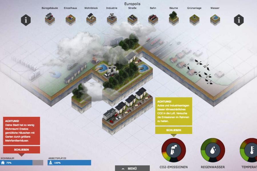 Screenshot: Stadtklimaarchitekt