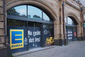 Am Dammtor Bahnhof eröffnet eine neue Edeka-Filiale. Foto: Annika Demgen