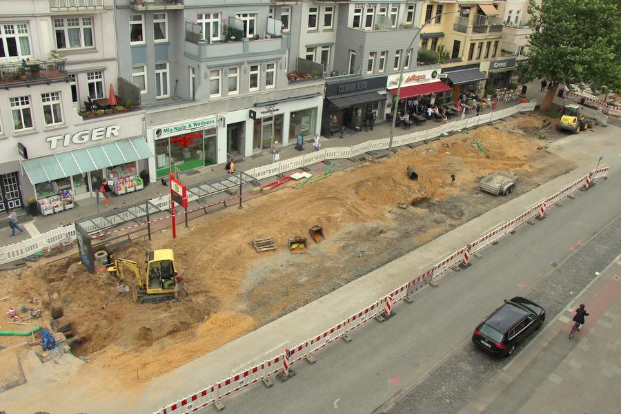 Aktuell läuft der Teilabschnitt 4 des Osterstraßenumbaus. Die Fertigstellung ist für Ende Juli geplant. Foto: Felix Kirsch