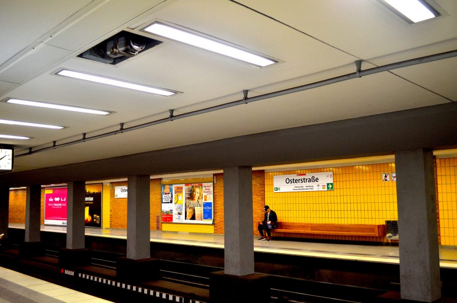 Der größte Anteil an Überwachungskameras befindet sich im Öffentlichen Personennahverkehr, wie hier an der U-Bahn-Haltestelle Osterstraße.