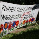 Protestplakat. Foto: Anja von Bihl