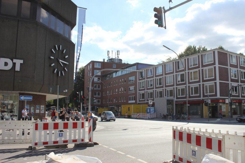 Osterstraßenumbau August. Foto: Jannika Grimm