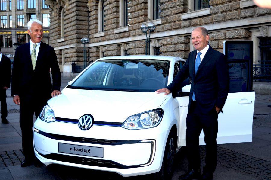 Hamburgs Bürgermeister Scholz und Volkswagen-Chef Müller haben eine gemeinsame Mobilitätspartnerschaft vereinbart.