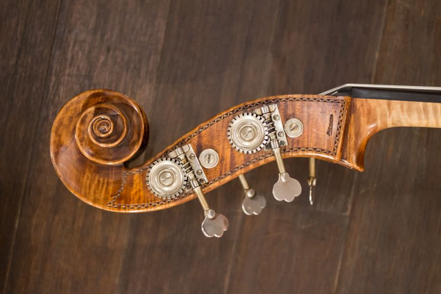 Die Violine eines Elbphilharmonikers. Foto: Alex Povel