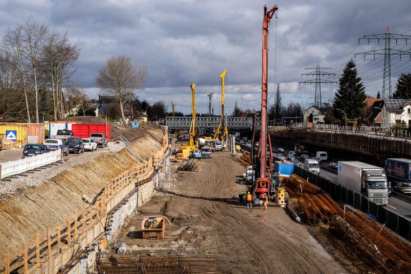 Bauarbeiten am A7-Deckel in Stellingen. Symbolbild: Dennis Imhäuser