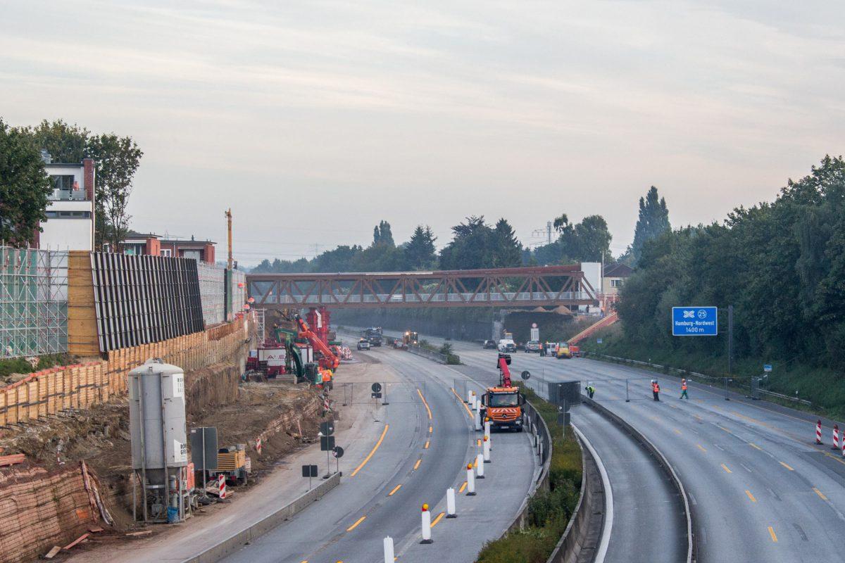 A7 Sperrung Zufahrt Schnelsen Nord, Eimsbüttel Nachrichten. Foto: Alexander Povel
