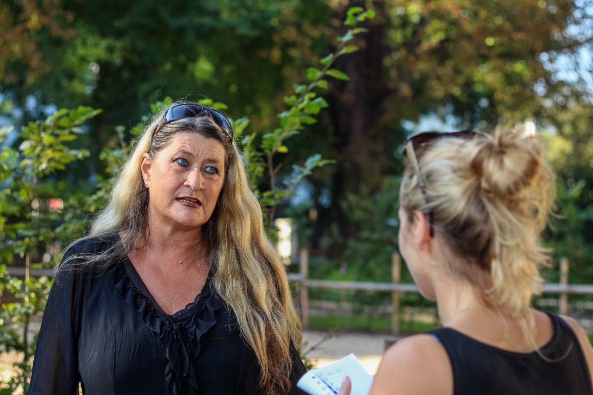 Caroline Smolny von Fördern und Wohnen leitet die Unterkunft. Foto: Alexander Povel