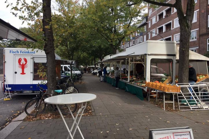 Schlump: Wochenmarkt gerettet, Switchh kommt trotzdem