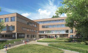 Visualisierung vom zukünftigen UKE Kinderklinikum. Foto: Universitätsklinikum Hamburg-Eppendorf