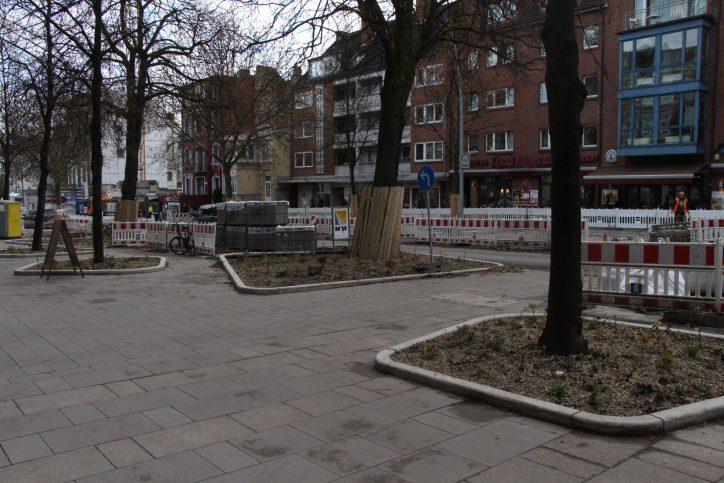 Die riesen Baum-Beete an der Osterstraße treffen aber nicht überall auf Zustimmung. Foto: Ida Wittenberg