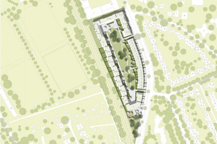 Auf dem Entwurf sind die Häuser an der Hagenbeckstraße noch zu sehen. Quelle: Quantum AG
