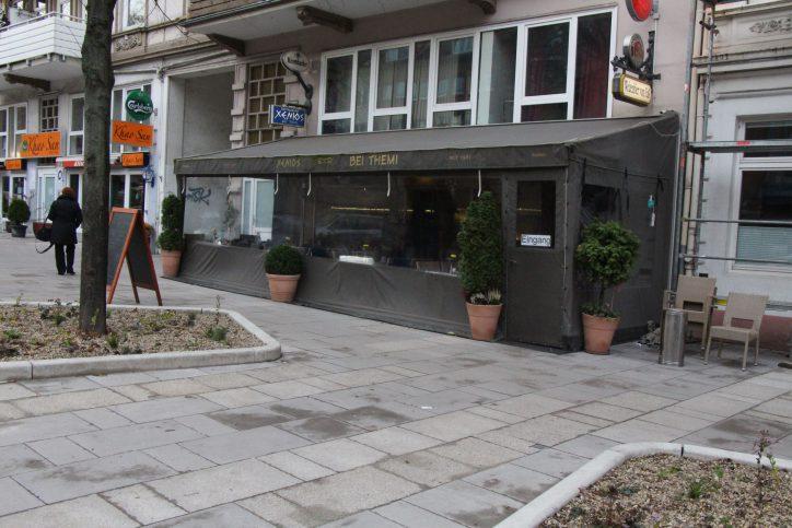 Das Restaurant Xenios merkt den Umbau der Osterstraße bereits jetzt deutlich an abnehmendem Umsatz. Foto: Ida Wittenberg