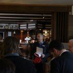 Peter Engelhorn, Regionalleiter der Haspa in Eimsbüttel, hielt die Begrüßungsrede. Foto: Ida Wittenberg