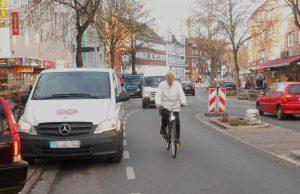 Die Fahrradspur in der Osterstraße war eigentlich für Radfahrer gedacht. Fot: Anja von Bihl