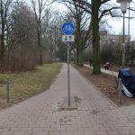 Eingang zur Veloroute in der Tornquiststraße. Foto: Carolin Martz