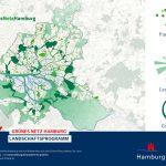 Der erste und der zweite Grüne Ring bilden zusammen mit den Landschaftsachsen das Grüne Netz Hamburgs. Das Netz bietet Wanderern und Radfahren die Möglichkeit, unterschiedlichste Landschaftstypen zu erleben. Foto: Behörde für Umwelt und Energie, Hamburg