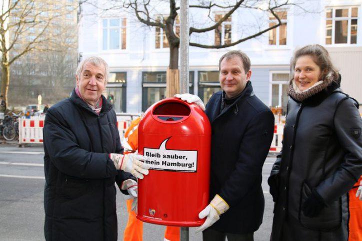 Stadtreinigung stellt 500 neue Papierkörbe auf