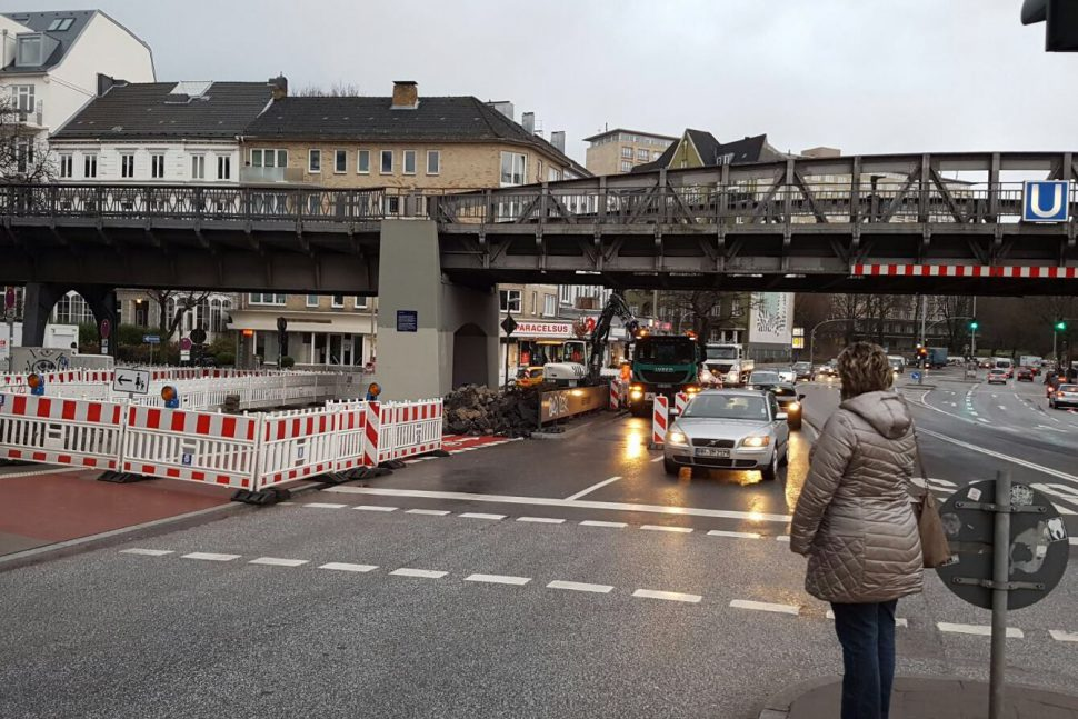 Umbau an der Hoheluftbruecke. Foto: Niklas