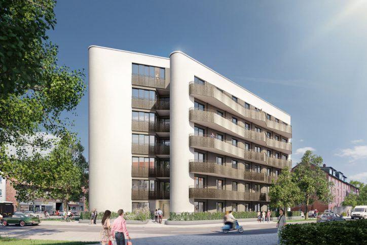 So soll das neue Gebäude am Langenfelder Damm 46 aussehen. Foto: Außenalster WPB Wohnungsbau GmbH