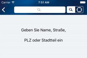 Screenshot der Stolpersteine App. Foto: Landeszentrale für politische Bildung