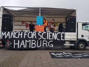Demonstrationszug March for Science Hamburg. Foto: Anna Gröhn