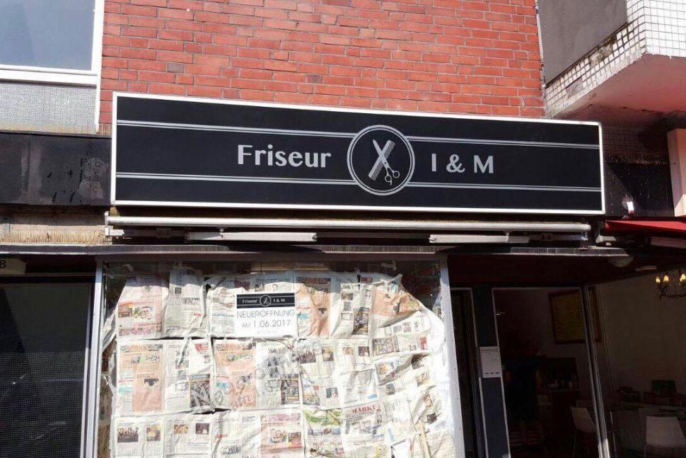 Der Friseur I & M öffnet Anfang Juni im Stellinger Weg. Foto: Ipek Gültekin