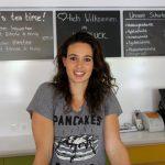 Die Profi-Volleyballspielerin Karine Muijlwijk eröffnet ein veganes Restaurant. Foto: Leon Battran