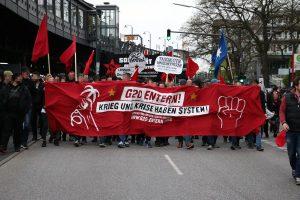 Demonstration gegen den G20-Gipfel in Hamburg. Foto: Niklas Heiden