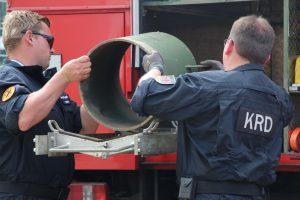 Kontrollierte Sprengung am Stadion Hoheluft. Foto: Max Gilbert
