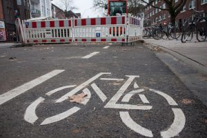 Fahrradstadt, Fahrrad, Eimsbüttel, Straße, Verkehr, Fahrradweg, Gehweg, Straße, Clara Wissmach