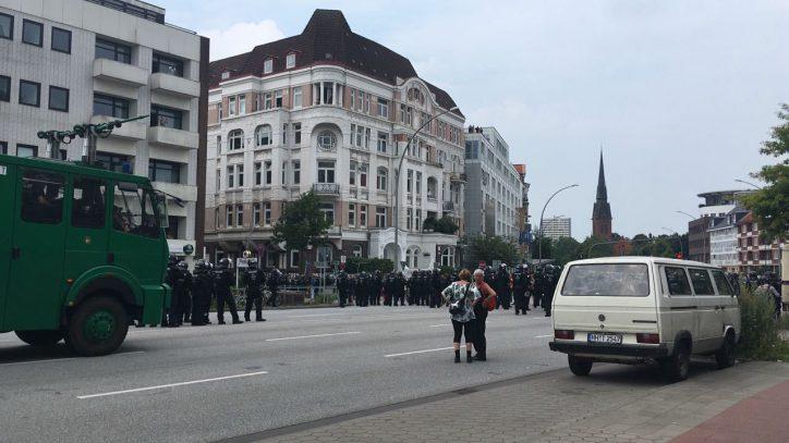 Christuskirche, Polizei, G20, Demonstration
