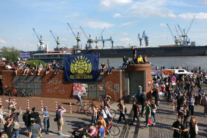 Hafen, Hamburg, Fischmarkt, G20, Demonstration