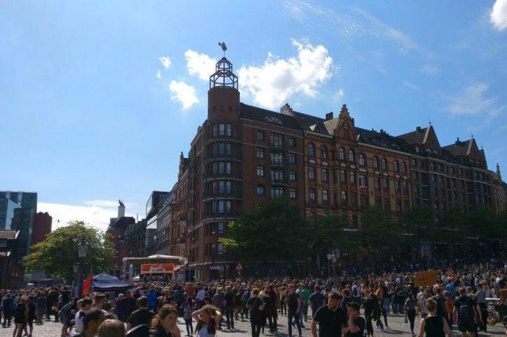 Fischmarkt, Hafen, Hamburg, G20-Gipfel, Demonstration, Welcome to hell