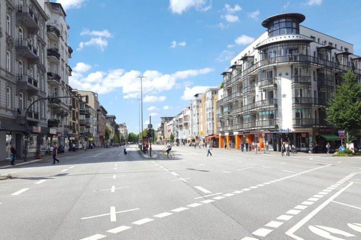 Grindel, Grindelallee, Straße, Fußgängerweg, Kreuzung