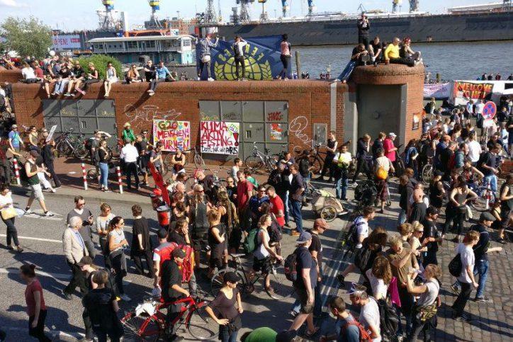 Hafen, Hamburg, Fischmarkt, G20, Demonstration
