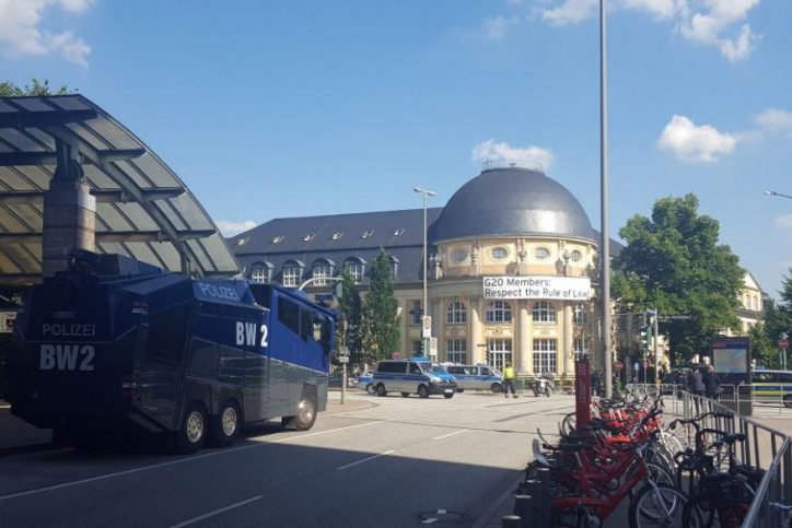 Messehallen, Hamburg, Bucerius Law School, G20, Polizei